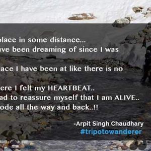 Arpit Singh Chaudhary Travel Blogger