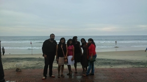 When sea got the better of us - Kovalam, Kerala
