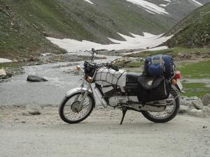 Ladakh trip on RX135