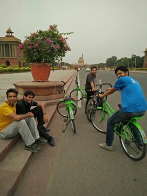 Cycling in Delhi