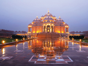 Akshardham Temple Tour with Musical Colored Fountain Show