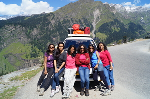 Six adventurers on the Ladakh Odyssey!