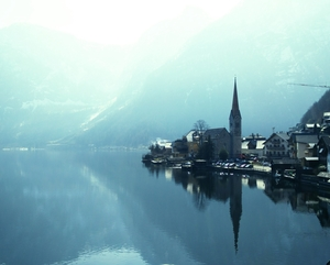 Hallstatt.. The silver lake in the Austrian Alps..