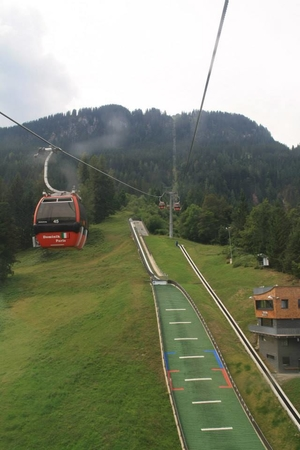 Kitzbühel, the skiing resort of Alps (Austria)