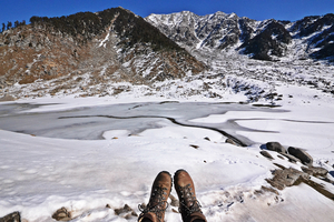 How I swiped right to find 'somebuddy' for the Winter Kareri Lake Trek