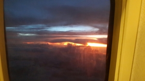 Sunset point at 35000 feet above the ground