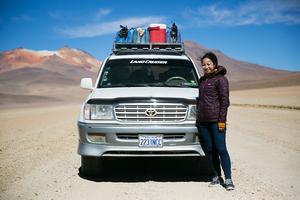 Crossing Salar De Uynui by Jeep