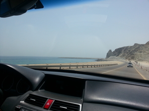 Drive amidst desert, mountains and beaches at Fujairah, UAE