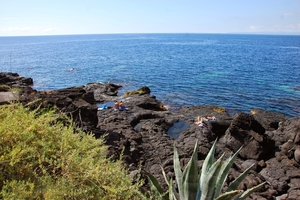 Swim like a local: Catania's rocky beaches