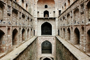 An old step-well in the heart of Delhi