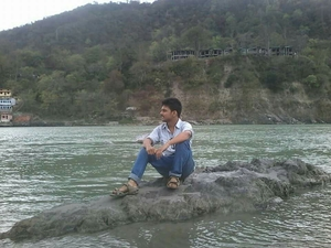 Embraced river ganga