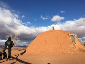 Experience living in a Hogan (traditional dwelling of Navajo tribe) - Monument Valley, Utah