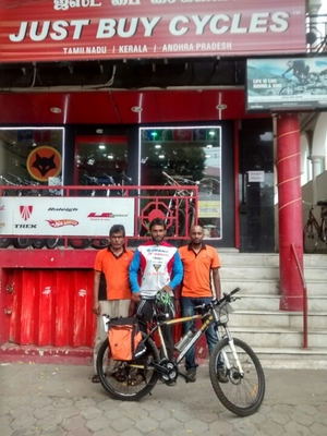3200 kms on a cycle across Tamilnadu, Coimbatore and Dindugal