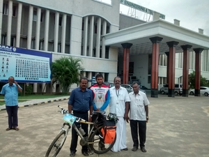 3200 kms on a cycle across Tamilnadu, Virudunagar and Tirunelveli