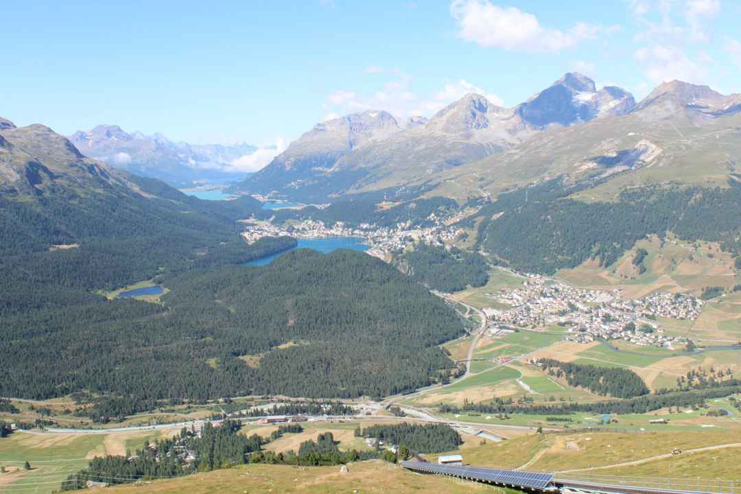 From old town Appenzell to high mountains at St  Moritz