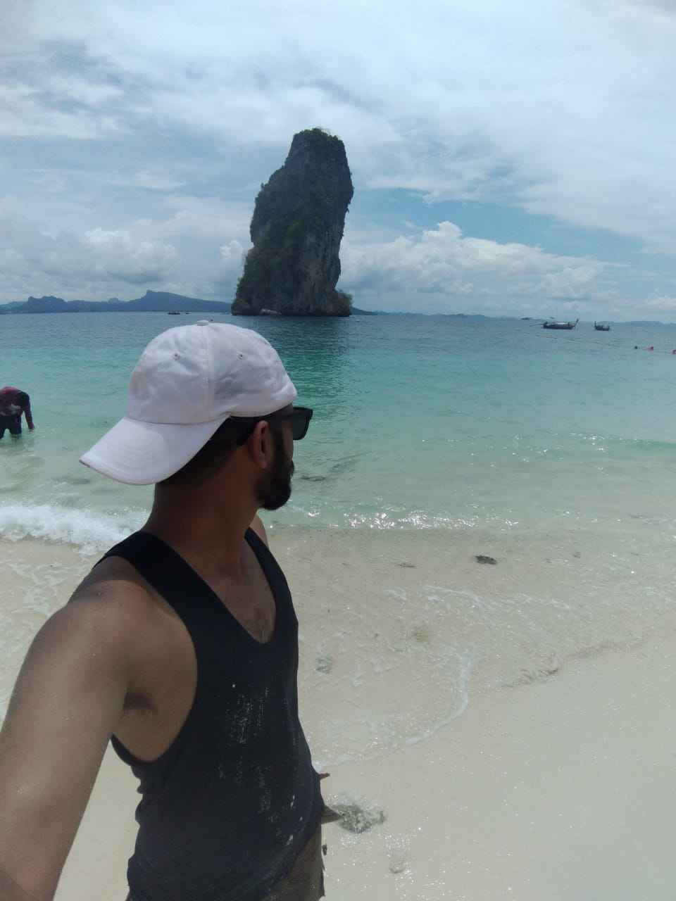 koh poda island, Krabi, Thailand. One of the best island for party, sea food and my fav Thai beer.