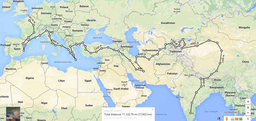 Bangalore India To Paris Road Trip