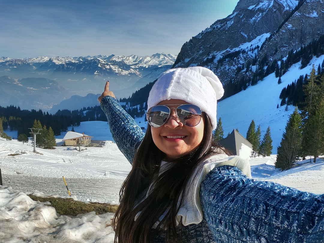 #SelfieWithAView Some one please take me here! Memorable selfie nature's lap, Mt. Pilatus, Swiss