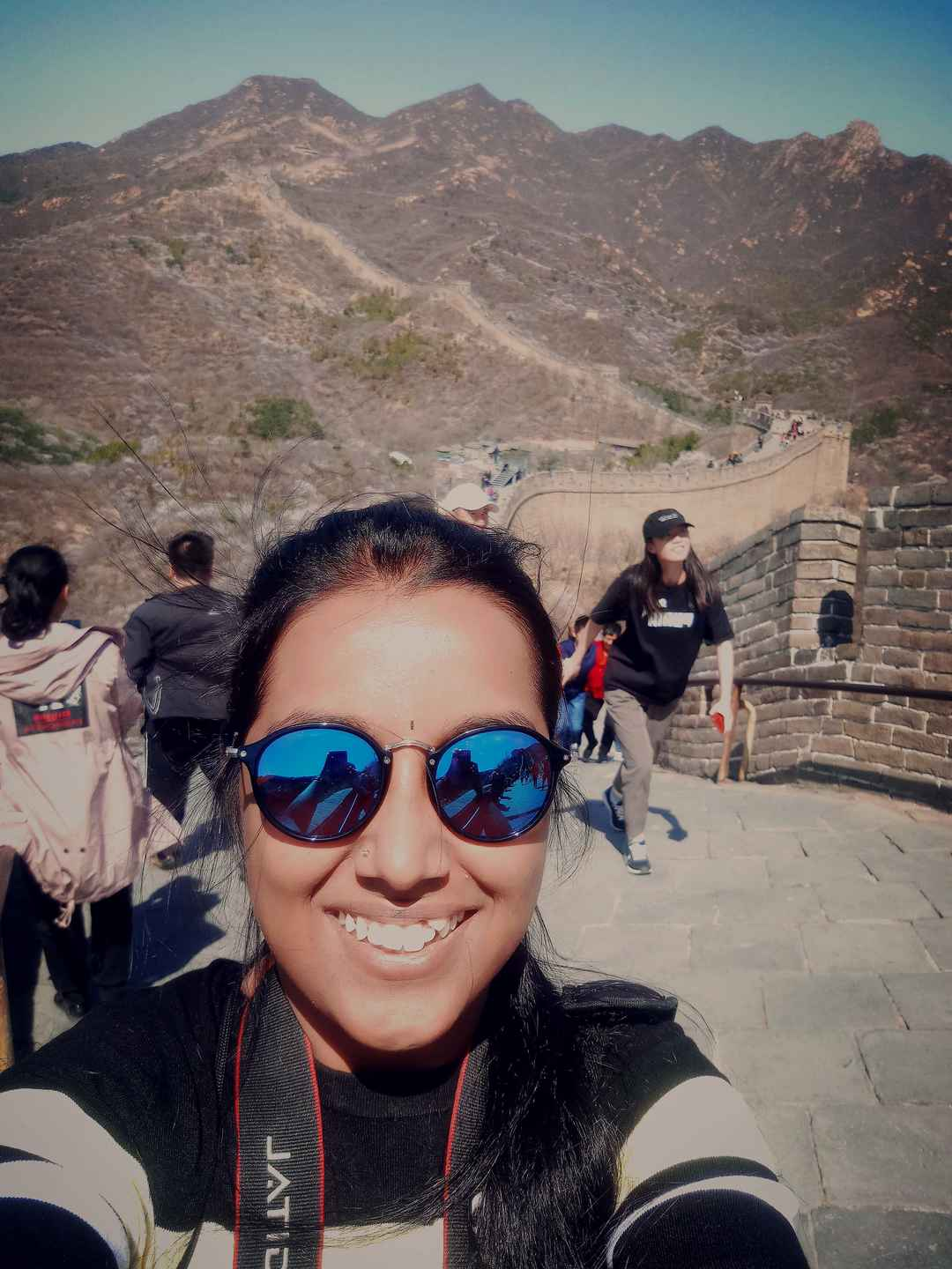 A great hike up the great wall!  #SelfieWithAView #TripotoCommunity