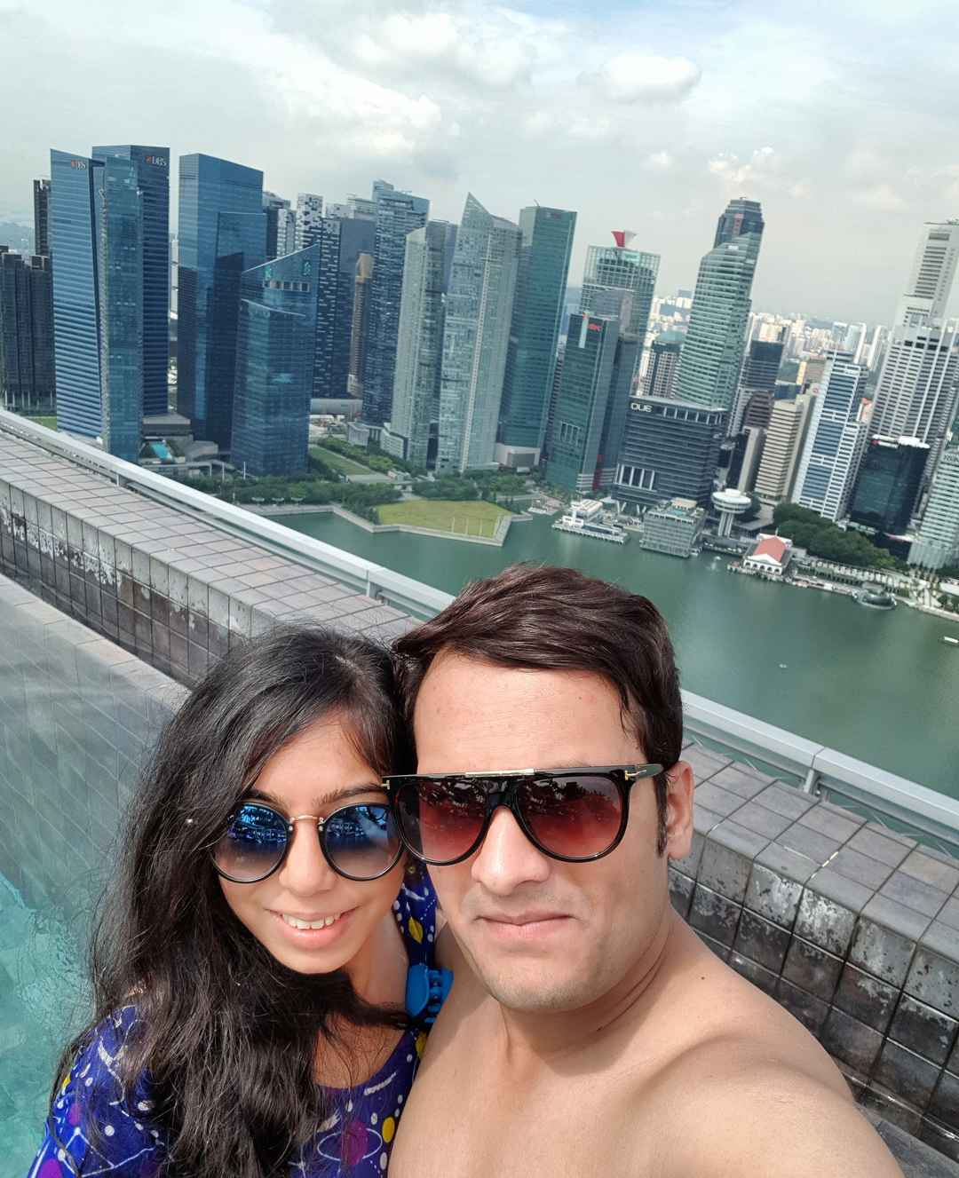 #SelfieWithAView at Top of the Marina Bay Sands Infinity pool #TripotoCommunity