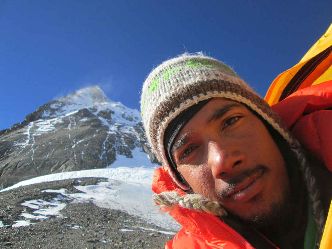 Mountain on the left of the picture is Mount  Everest. #SelfieWithAView #TripotoCommunity