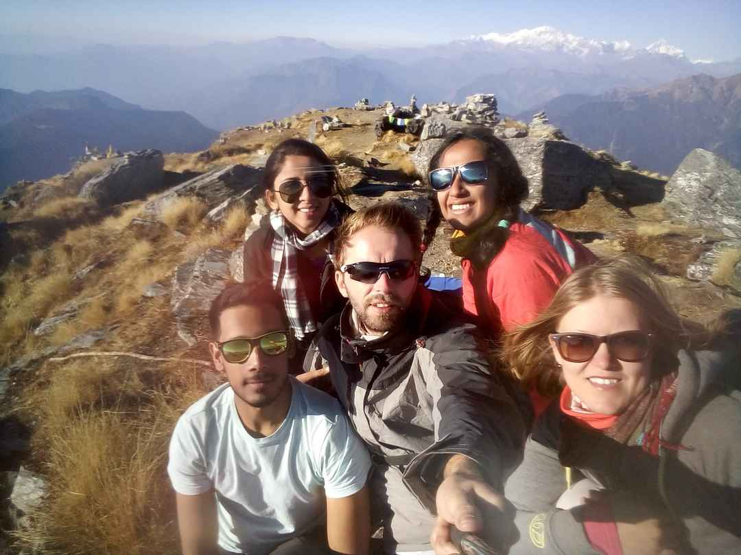 #Friends make #travel better :) #SelfieWithAView #TripotoCommunity #gang #mountains #Travellust #fly