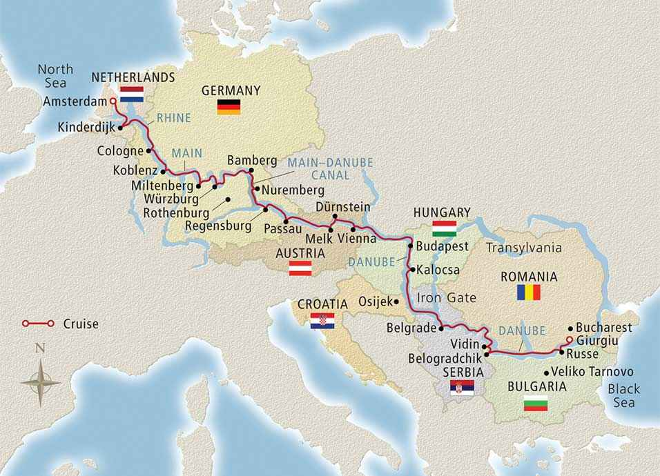 budapest to amsterdam river cruise map Danube River Cruise Europe This Cruise Will Change Your Life budapest to amsterdam river cruise map