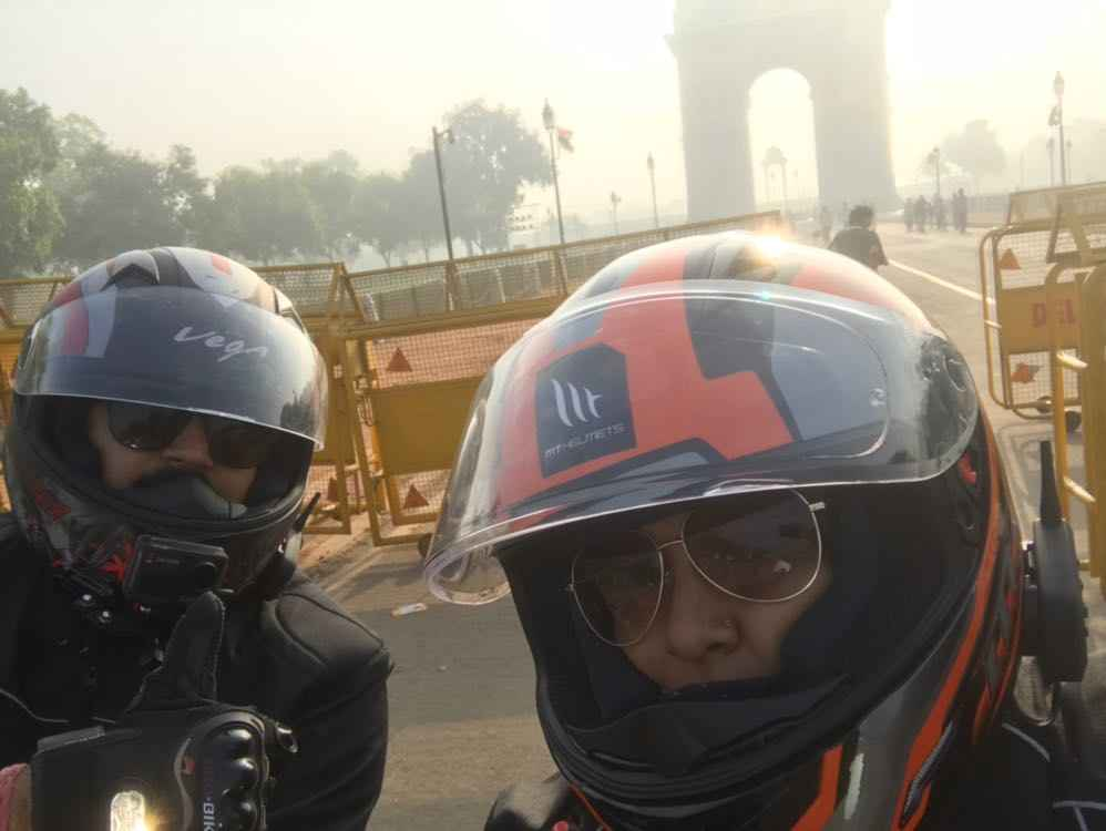 First Ever Ride to India Gate