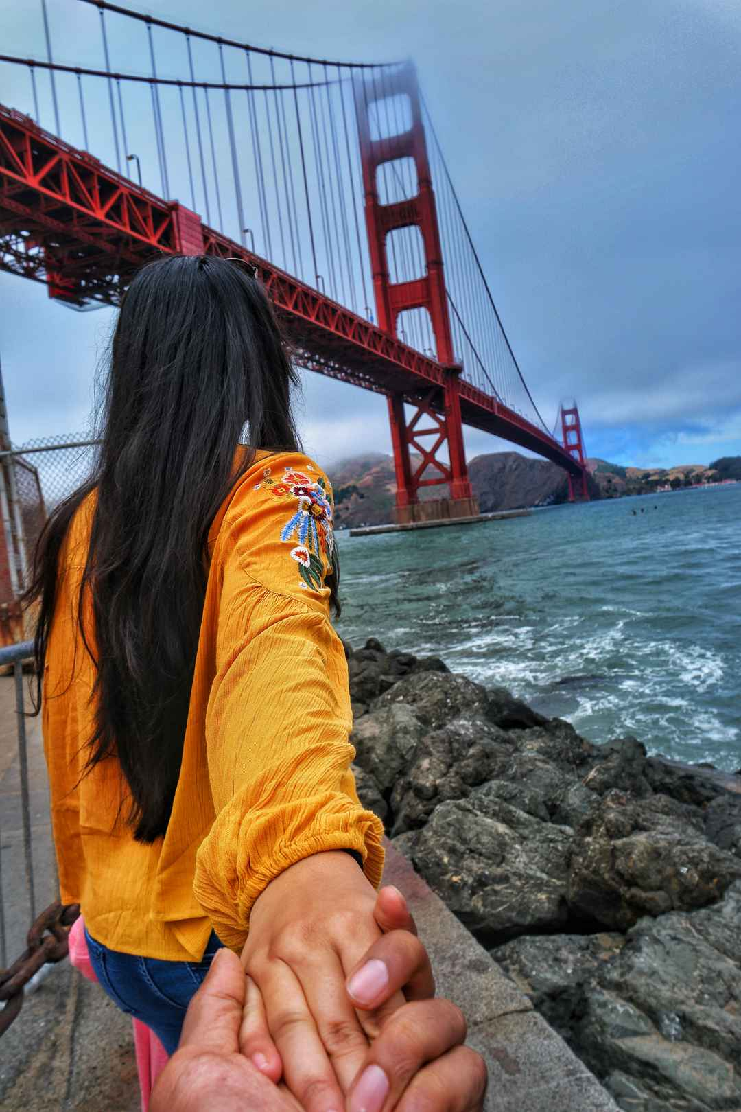 Follow me to the Golden Gate Bridge of San Francisco.