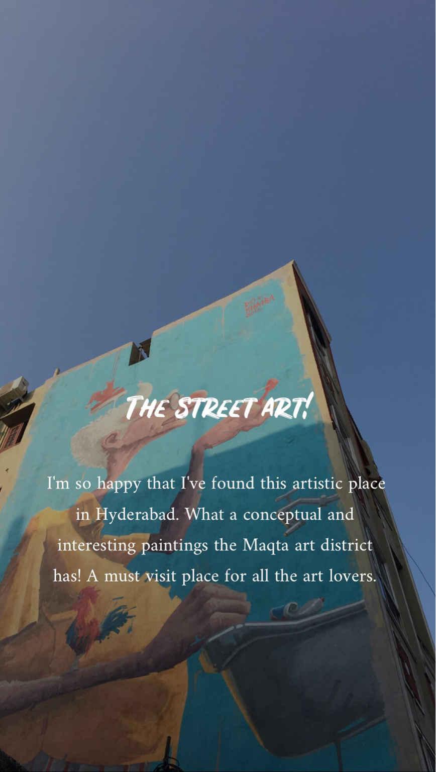 The Hidden Street Art In Hyderabad- Worth Instagram#streettalk