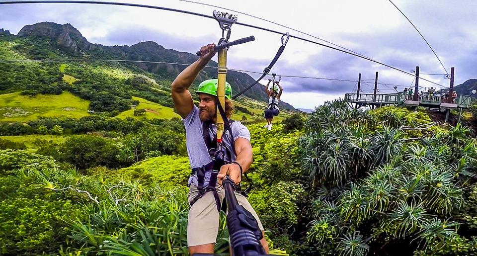 Zip Lining in Jurassic Park on Oahu, Hawaii - Tripoto
